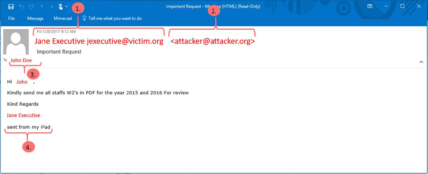 tax season phishing screenshot